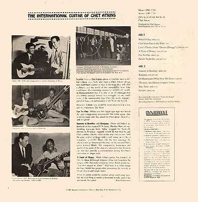 Chet Atkins LP - back cover