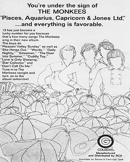 Monkees 1967 album ad