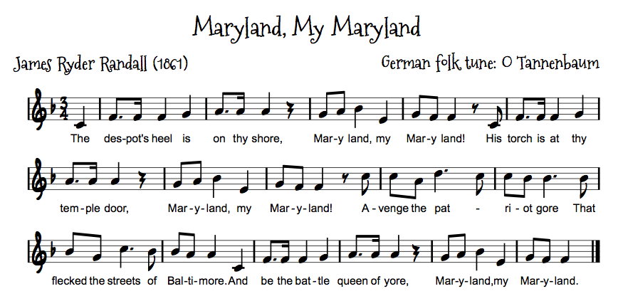 Maryland Oh Maryland