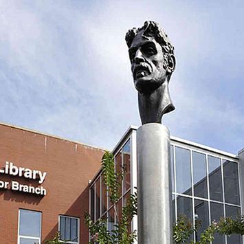 Zappa Bust - Baltimore Libary