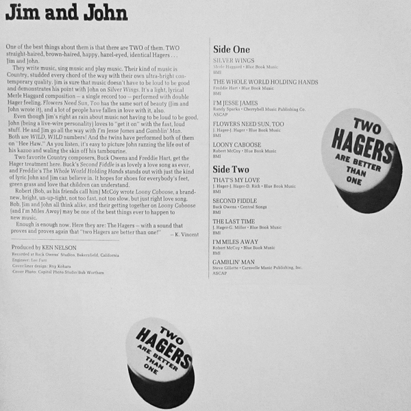 The Hagers - rear cover