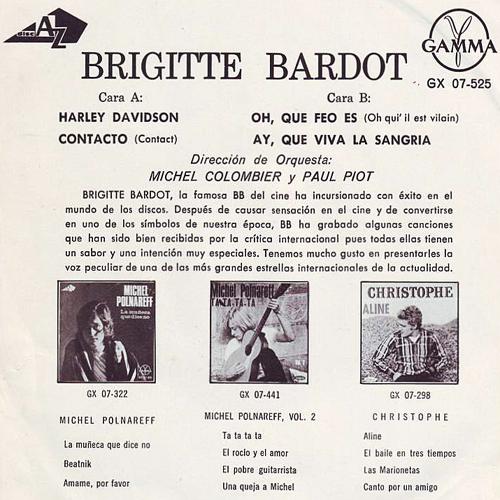 Brigitte Bardot Mexican EP