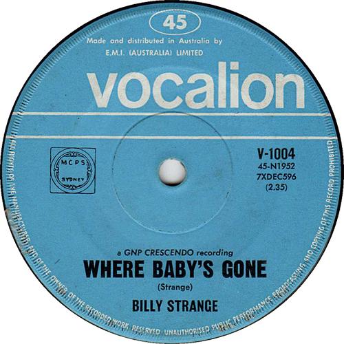 Billy Strange 45
