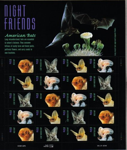 Bat Postage Stamps
