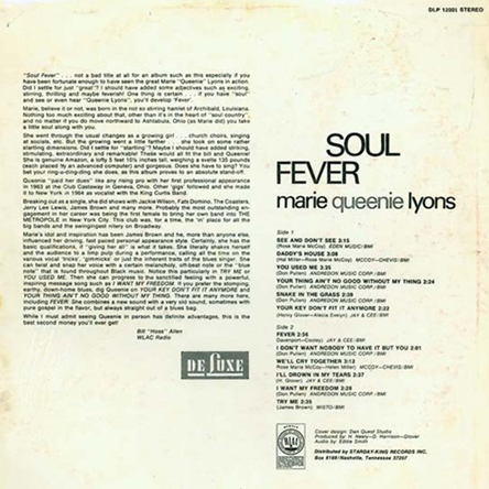 Soul Fever - back cover