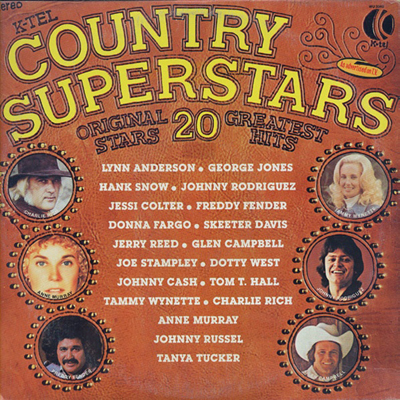 K-Tel's Country Superstars LP-front