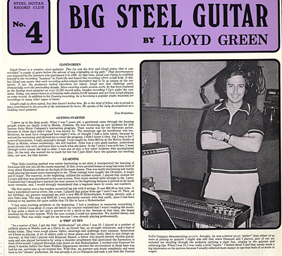 Lloyd Green debut LP-bb