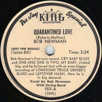 Bob Newman 78-bio disc