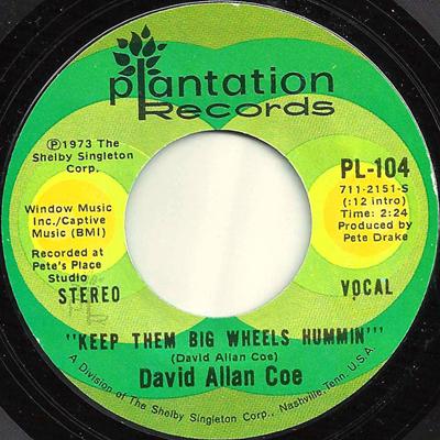 David Allan Coe 45-b