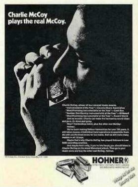 Hohner ad-charlie mccoy