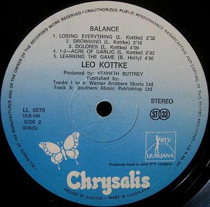 Leo Kottke LP-a
