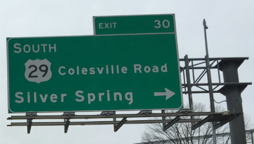 Silver Spring-495 sign