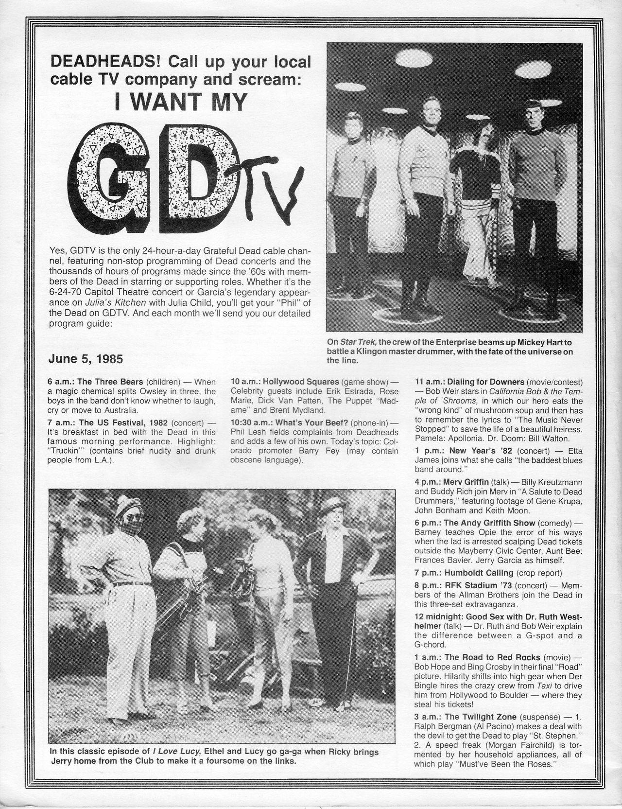 GDTV - Grateful Dead TV