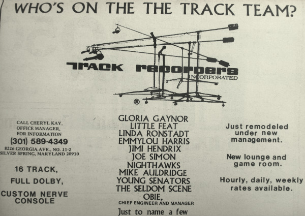 Track Recorders Ad - mid 1970s