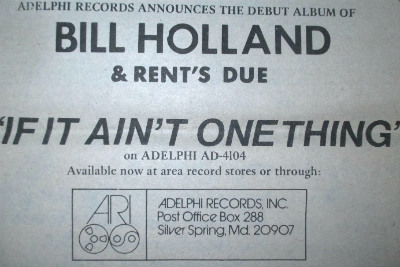 Bill Holland - promo ad