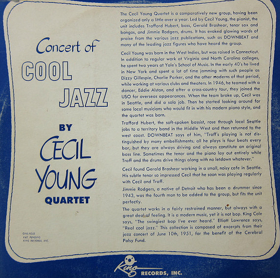 Cecil Young Quarter - back cover story
