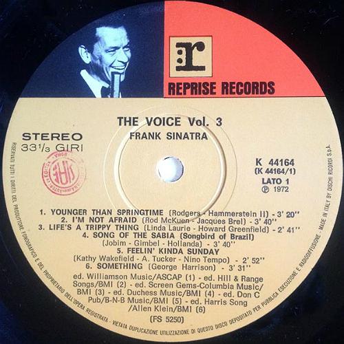 Frank Sinatra LP-Italy