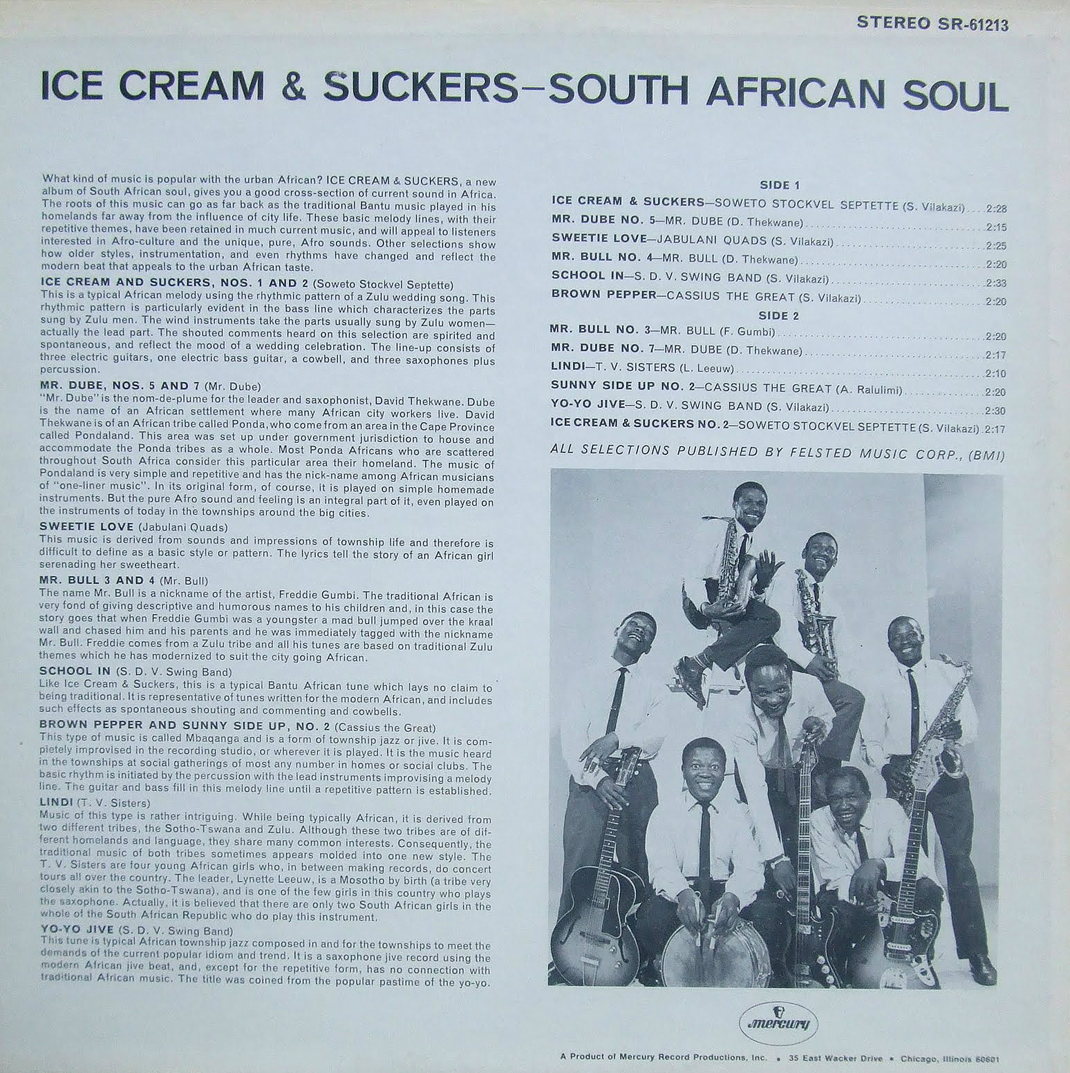 Ice Cream & Suckers - Various Artists Mercury LP-cc