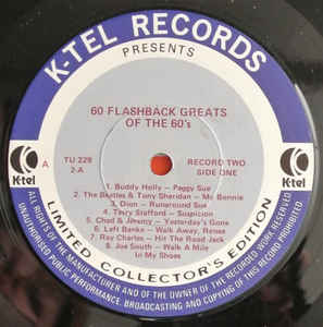 K-Tel's 60s Flash-Back Greats
