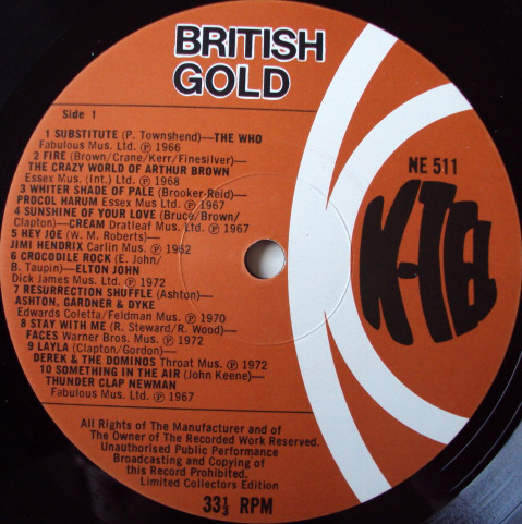 K-Tel's British Gold