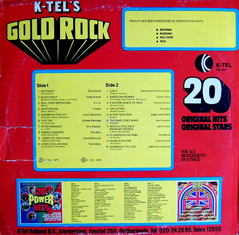 K-Tel's Gold Rock - Netherlands 75