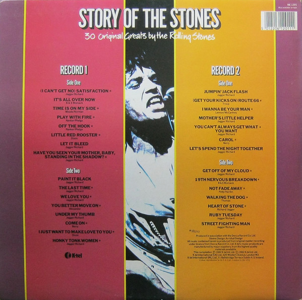 K-Tel's Story of the Stones-rear cover