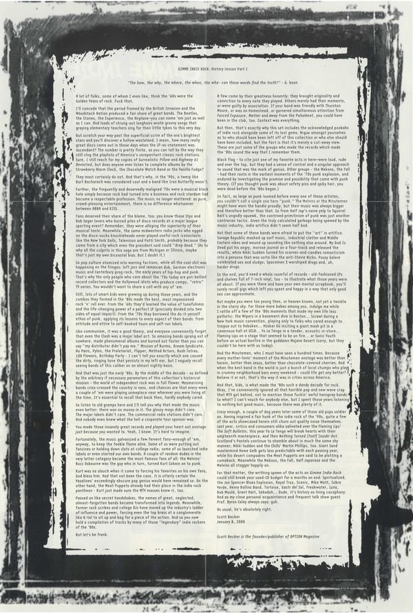 K-Tel's Gimme Indie Rock - essay