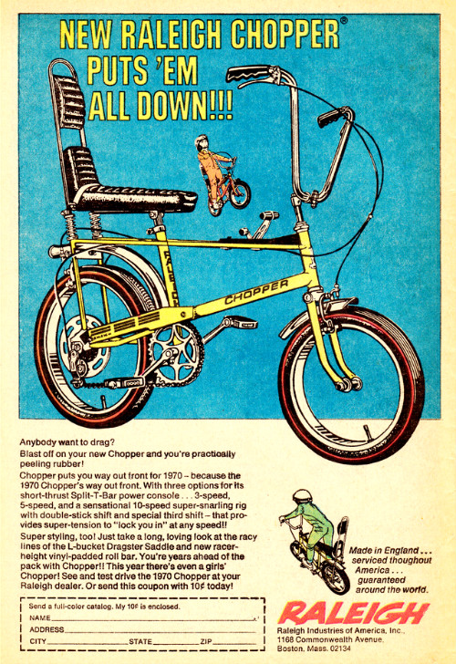 Raleigh Chopper - vintage 1970 ad